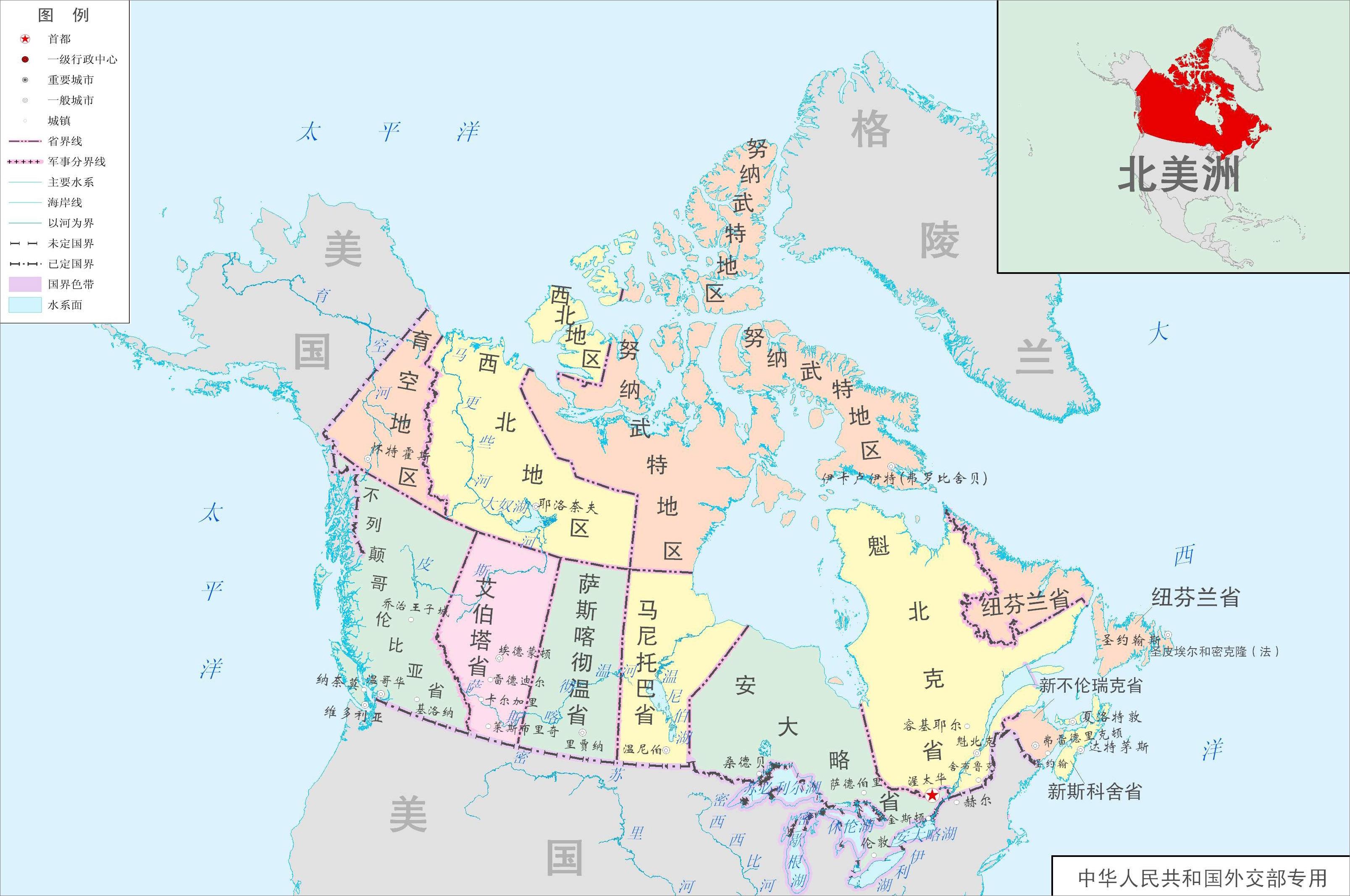 中国地图全图可放大_加拿大行政地图,点击可放大.